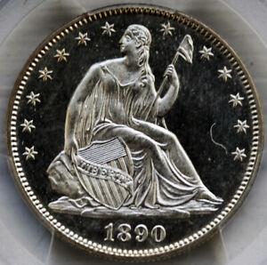 1890 Liberty Seated Half Dollar PCGS MS65PL All White PCGS Top Pop PL