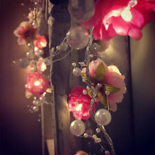 Creative Switch Control Rose Flower String Lights Christmas Party Decor New