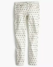 New J. Crew Toothpick Jeans In Star Print Size 28