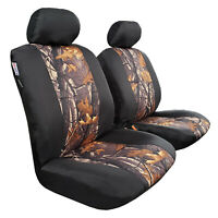 New 2pcs Camo Car Seat Cover w/t Waterproof Canvas Universal Size For ISUZU Dmax