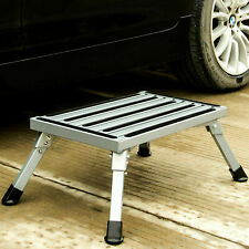 Folding Aluminum Platform Step Stool RV Trailer Camper Working Ladder Portable