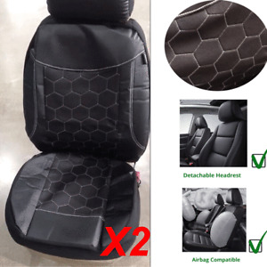 Soft Luxury PU Leather Car Seat Protector Breathable All Season Front Seat Cover