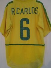 Player Issue Brazil 2002 Home Roberto Carlos  Football Shirt Size Medium /43941