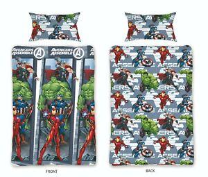 Marvel Avengers Duvet Cover Set Single Bedding Comics Super Hero's