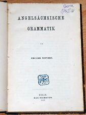 Eduard Sievers: Angelsächsische Grammatik. Ausgabe 1882