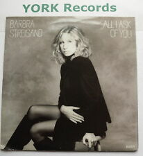 """BARBRA STREISAND - All I ask Of You - Excellent Condition 7"""" Single CBS BARB 3"""