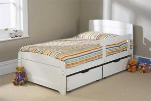 SOLID PINE 3FT RAINBOW WHITE AVAILABLE IN 3 COLOURS FRAME ONLY MATTRESS EXTRA