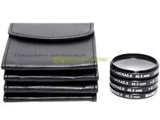 40,5mm. kit 4 aggiuntivi +1 +2 +4 diottrie e Macro Blackdove-cameras + custodie.