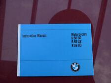BMW Motorrad Typ R 50 60 69 US Oldtimer Handbuch manual handbook