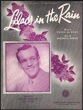 Lilacs in the Rain 1939 Glenn Miller  Sheet Music