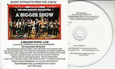THE UNCOMMON ORCHESTRA A Bigger Show - Live UK 10-track promo CD Mike Westbrook