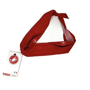 Castelli Cycling Headband Scorpione Red One Size Fits All Unisex NEW
