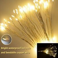 2018 Firework LED Copper Wire Strip String Xmas Wedding Decor LED Fairy Light QC