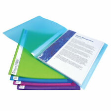 More details for rapesco flexi display book 40 pocket a4 assorted pack of 10 0917