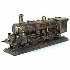 "Steampunk Train Steam Engine Figurine Miniature 10""L New"