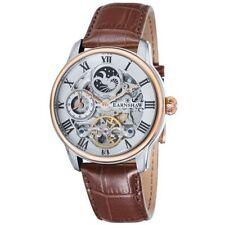 Thomas Earnshaw Mens Gold PL Longitude Brown Leather Strap Watch Model 8006