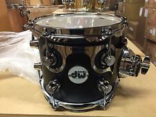 DW Drum Workshop Design Series 7x8 Black Satin Rack Tom Chrome HW