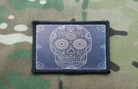 Black DAY OF THE DEAD Sugar Skull Flag Morale Patch Death Mexican
