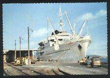 Cartolina - OLBIA (Sassari) Stazione marittima Nave e Auto - VG x Bologna 1960