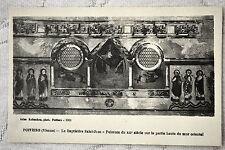 """CPA """" POITIERS - Baptistère Saint Jean - Peinture sur le mur oriental"""