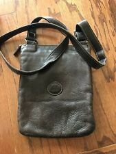 ROOTS Canada Leather Messenger Bag Crossbody Handbag Brown