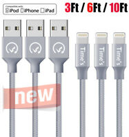 Braided For iPhone 8 iPhone 7 6 Plus X USB Charger Cable Charging Data SYNC Cord