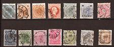 AUTRICHE  timbres anciens fin 1800 début 1900, personnages importants  82m240T3