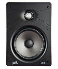 """Polk Audio V85 8"""" de alto rendimiento de fuga en la Pared Altavoz 125w Fast P + P nuevo"""