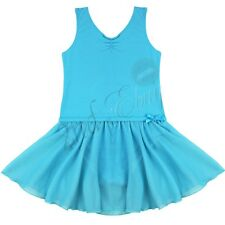 Girls Gymnastics Ballet Tutu Dancewear Leotard Kid Skater Vest Skirt Dance Dress