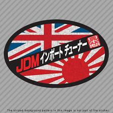 JDM Import Tuner Decal Sticker Japan UK England Flag Rising Sun Kanji P046_04