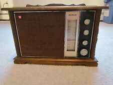 HITACHI TABLE RADIO VINTAGE WOOD ELECTRIC 1960'S K-790H 7 TRANSISTOR SOLID STATE