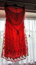Beaded Embellished Badeau Dress, Coral, size 10