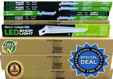 6 PACK 4Ft 42W 5000k LED GARAGE WORK SHOP LIGHT FIXTURE HANGING UTILITY CEILING