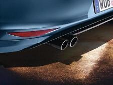 VW Volkswagen BLACK Chrome Stainless Steel Dual Exhaust Tips Beetle Golf Jetta