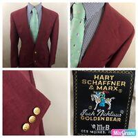 Hart Schaffner Marx Men's Jack Nicklaus Golden Bear Sport Coat Blazer Sz 42 R P9