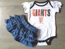 Lot 2 San Francisco Baby Girl Giants Romper 0 - 3 49Er Old Navy skirt denim Sf