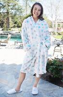 Women Warm Winter Plush Bathrobe Plush Spa Robe Bath Robe Sleepwear