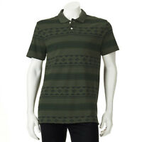 New Chaps by Ralph Lauren Men's Patterned Pique Polo Green Size XL MSRP $50