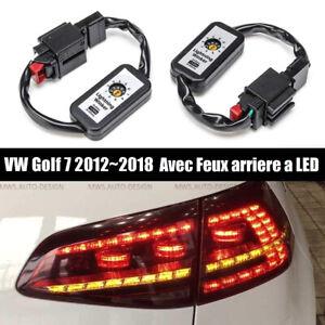 Clignotant Dynamique Module Feux Arrieres Golf 7 Indicateur LED VW VII 2012-2018