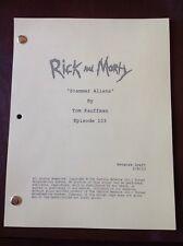 Rick and Morty NEW TV Script SCAMMER ALIENS (2/8/13) Dan Harmon, Justin Roiland