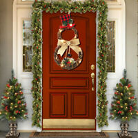 🌟Christmas LED Wreath Garland Ornament Hanging Xmas Party Door Wall Home