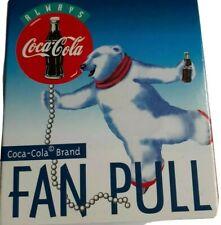 New Coca Cola Ceiling Fan Pull White Polar Bears 1998