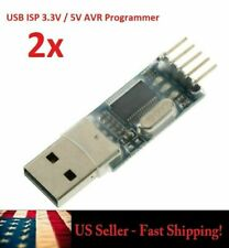 2pc USB ISP 3.3V 5V AVR Programmer for UART terminals STC MCU NXP Renesas Xbee