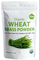 USDA Organic WheatGrass Powder, Green Superfood 4, 8 and 16 oz,Resealable Pouch
