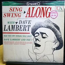 VINYL RECORD ALBUM SING SWING ALONG WITH DAVE LAMBERT SHRINK EX EX