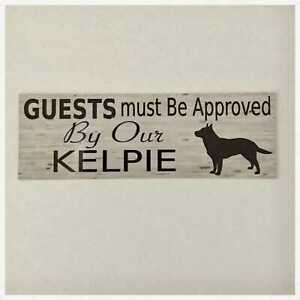 Kelpie Dog Guests Must Be Approved By Our Sign