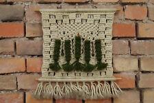 Années 60 Vintage Tapis de Mur Vase Mural Boho Macramé Milieu Du Siècle