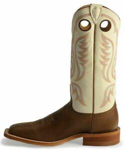Bottes cowboy mexicaines mexicaines en cuir de cowboy faites main et blanches