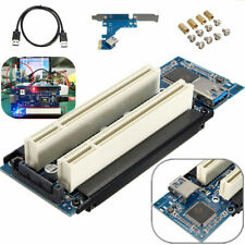 PCI-E Express X1 to Dual PCI Riser Extend Adapter Card USB 3.0 Cable 2.6 FT