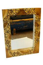 teca Espejo madera de Raiz Casa Campo maciza Dura fina Shabby Chic XL